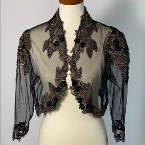Jackets & Blazers - Sheer formal wear jacket with appliqués
